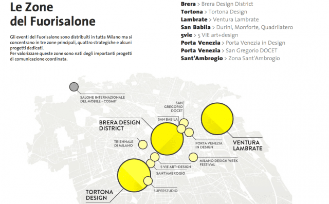 fuorisalone 2015 la mappa degli eventi in citt durante