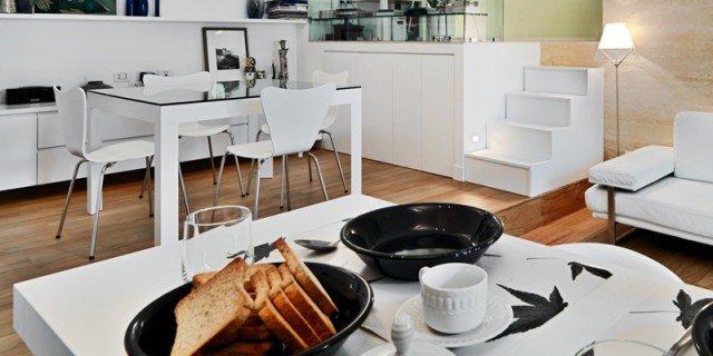58 mq: una casa sviluppata su più livelli
