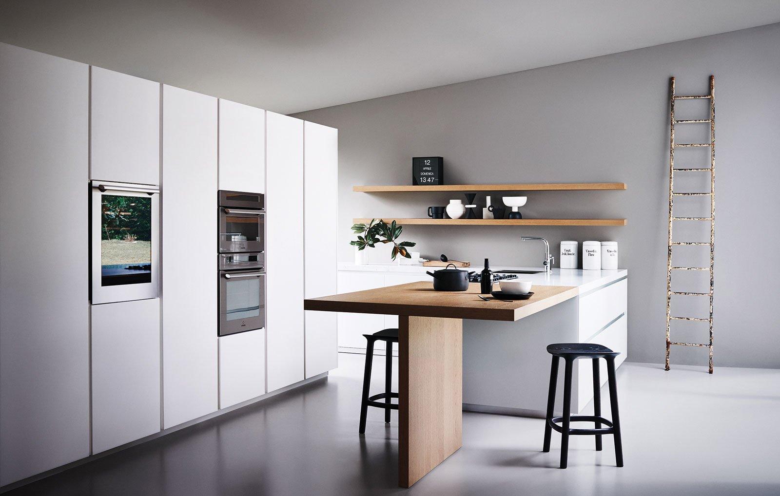 Credenza Con Frigo : Cucine con armadiature a colonna. per contenere di più cose casa