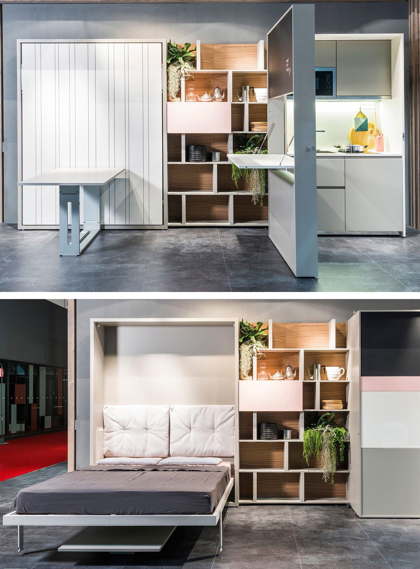 Mobili salvaspazio trasformabili due in uno cose di casa for Arredamento salvaspazio mobili multifunzionali