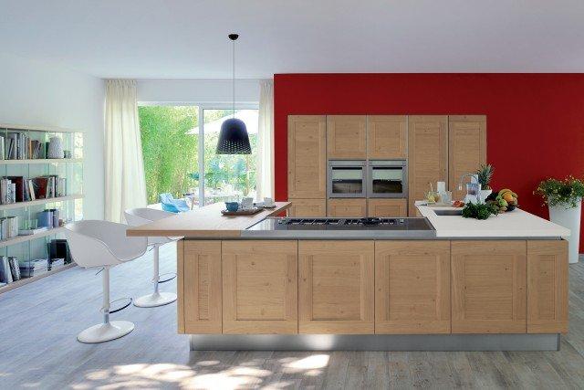 Cucine con anta bugnata cose di casa - Cucine in legno chiaro ...