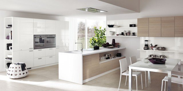 Cucine con armadiature a colonna per contenere di pi - Cucine con frigo a vista ...