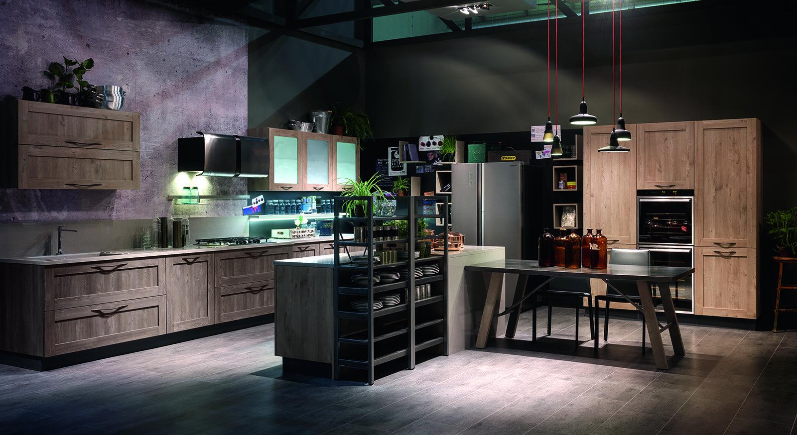 Le Ante Di City Di Stosa Cucine Sono In Nobilitato Nella Finitura  #825E49 1600 874 Cucine Stile Eclettico