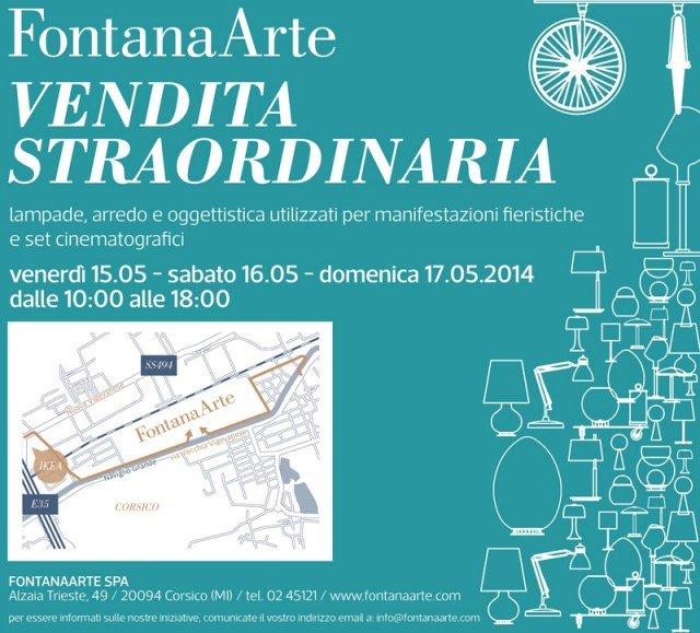 Vendita straordinaria da FontanaArte - Cose di Casa