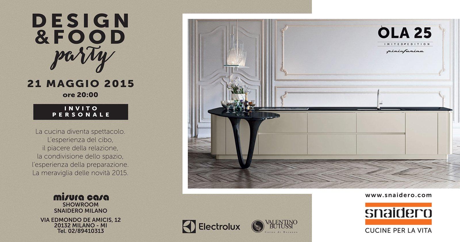 Disegno cucina moderna giugno 2015 : Cucine in mostra al Party Design&Food di Snaidero - Cose di Casa