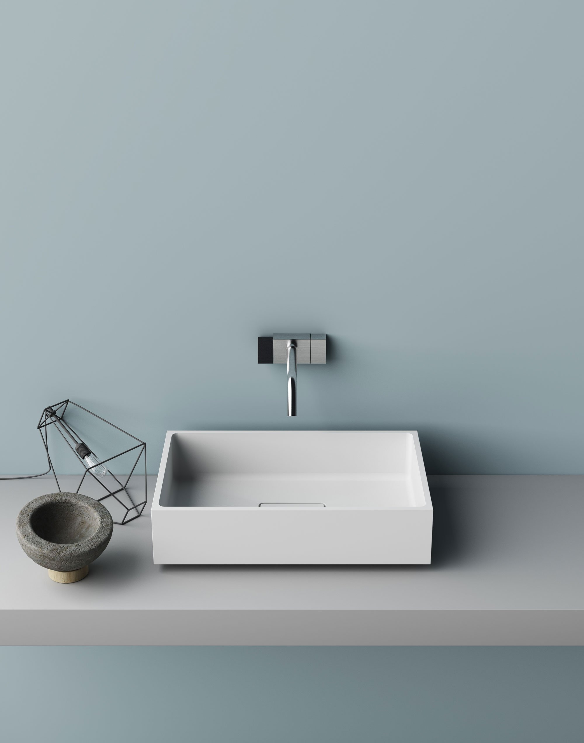 Lavabi d 39 appoggio su console per un bagno contemporaneo - Piano d appoggio per lavabo ...