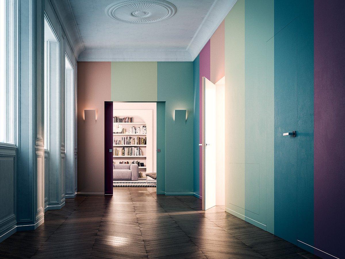 Porte a scomparsa e filo muro syntesis collection di for Eclisse syntesis