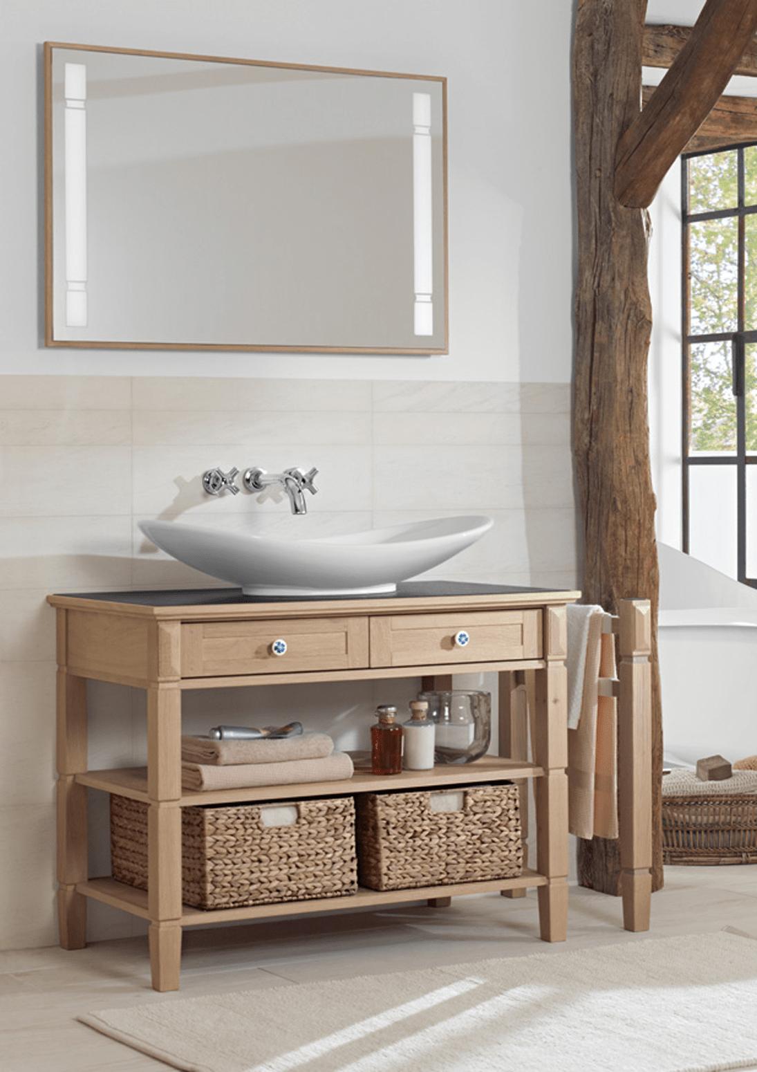 Mobili o console per lavabo classici country o romantici for Salle de bains porcelanosa