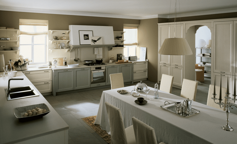 Cucine vintage per uno stile un po 39 r tro e un po 39 country cose di casa - Arredare sala con cucina a vista ...