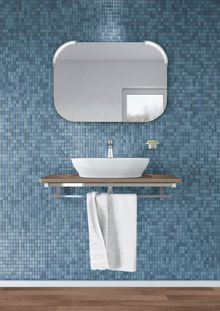 Lavabi d'appoggio su console per un bagno contemporaneo   cose di casa