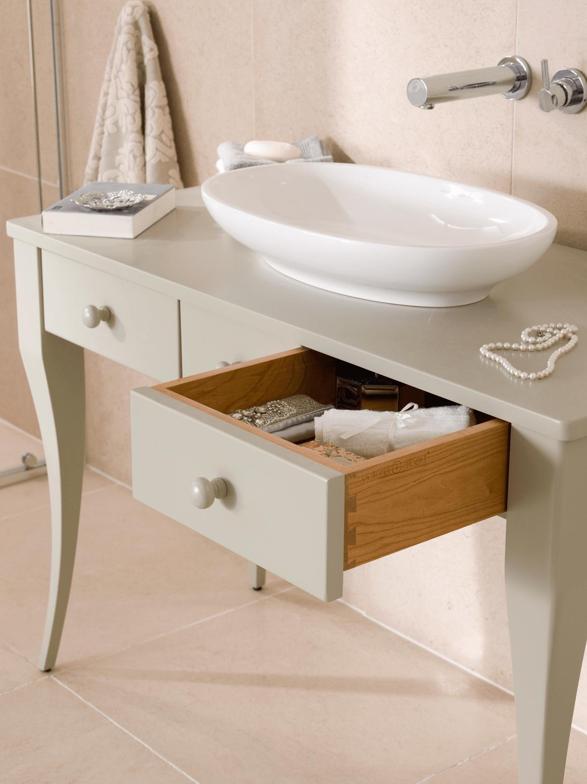 Mobili o console per lavabo classici country o romantici for Mobile lavabo