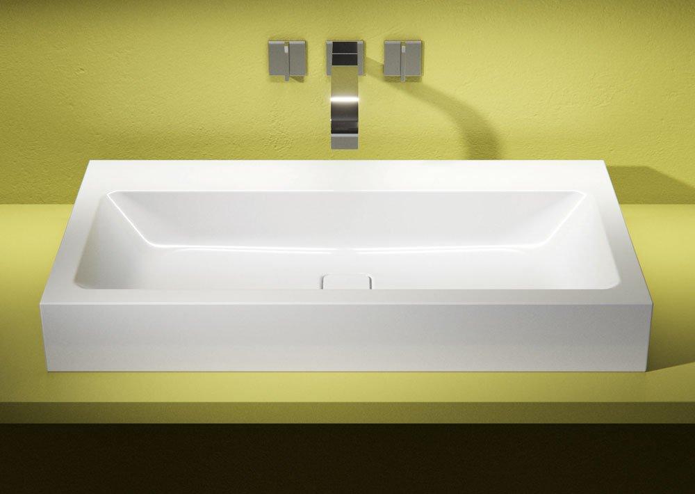lavabi d 39 appoggio su console per un bagno contemporaneo. Black Bedroom Furniture Sets. Home Design Ideas