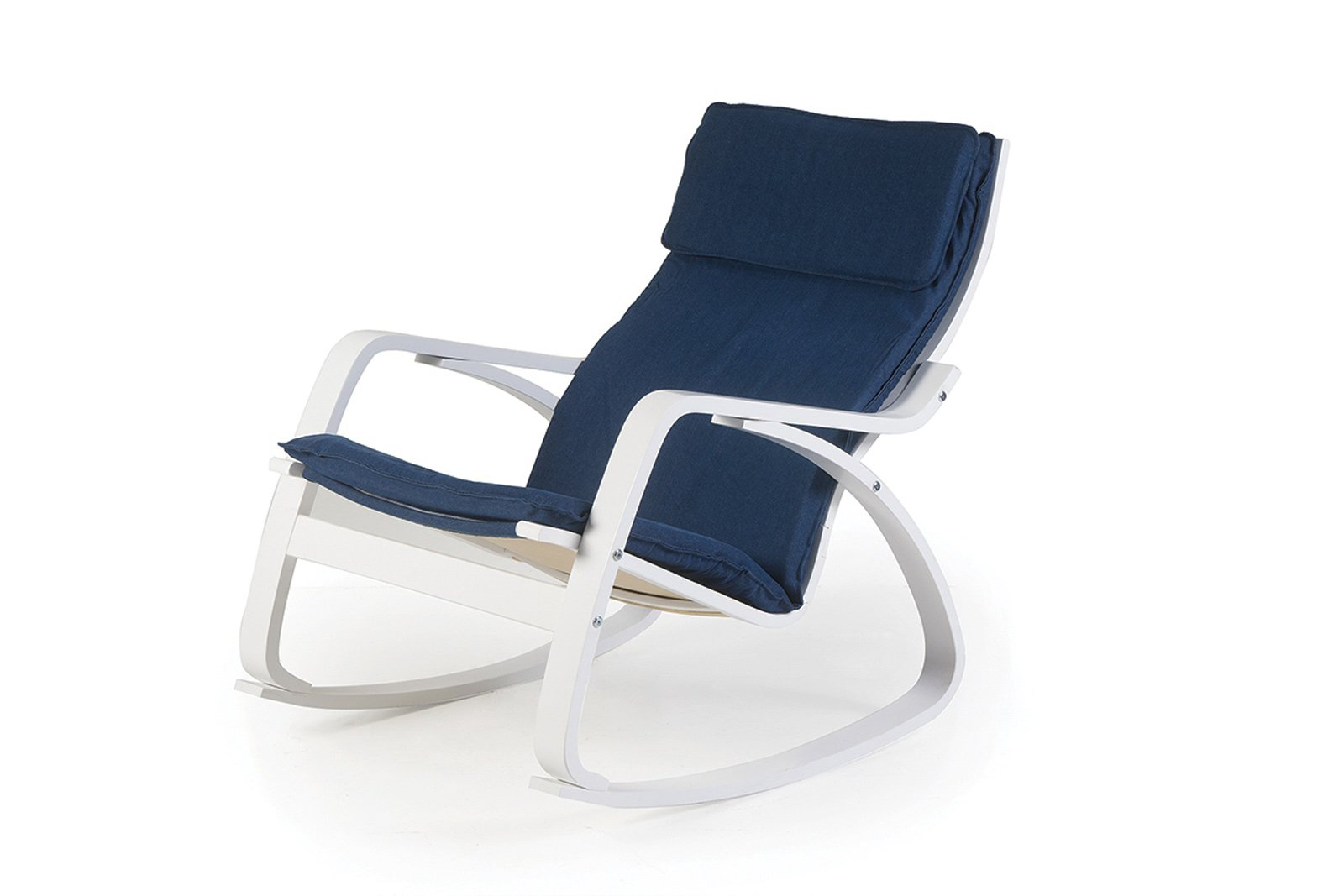 8 miliboo poltrona a dondolo design piedi bianchi seduta blu gabe 31474 1000 cose di casa - Poltrona a dondolo di design ...