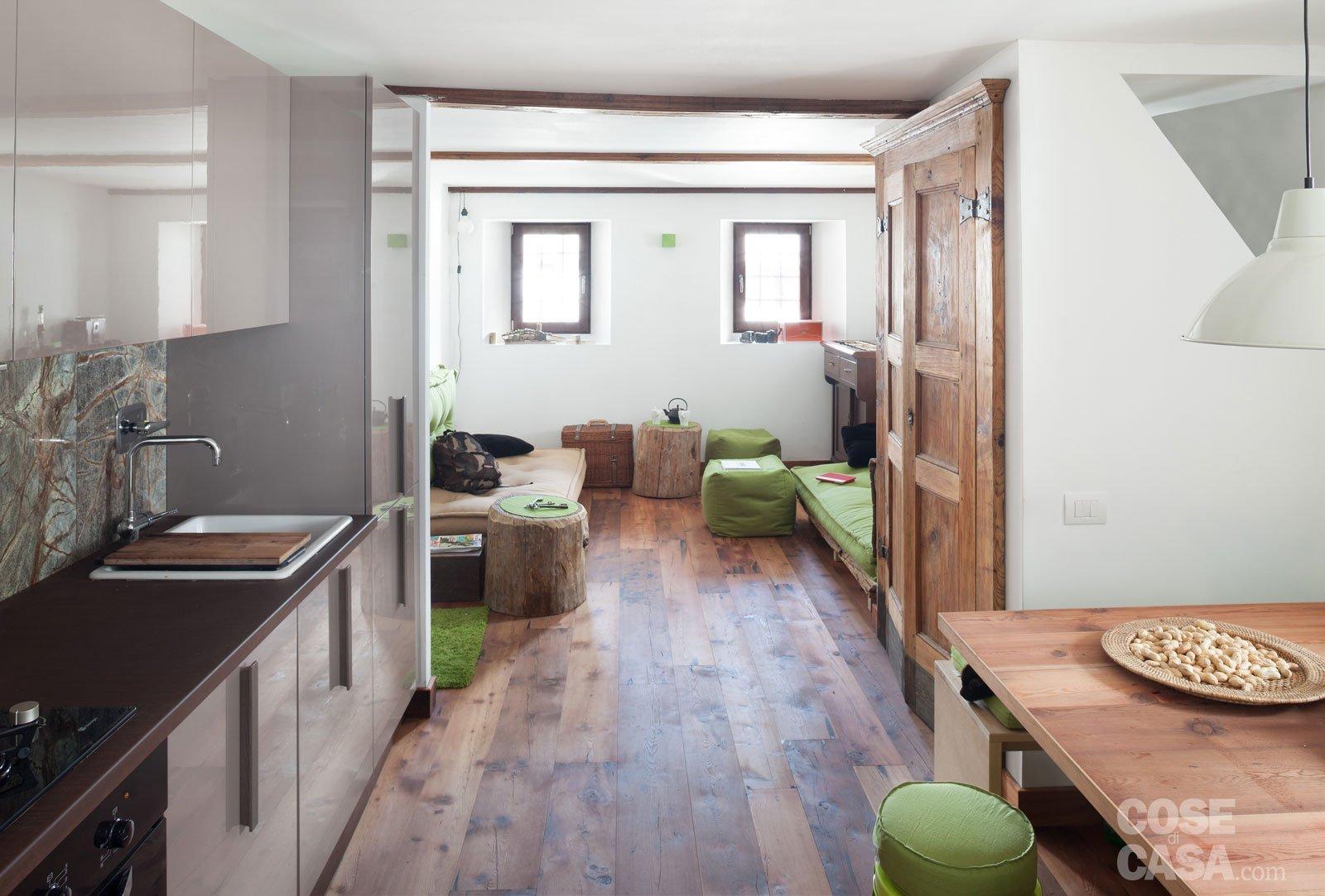 30 30 mq restauro di una tipica casa di montagna cose - Cucina in casa ...