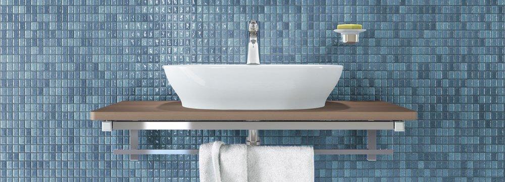 lavabi dappoggio su console per un bagno contemporaneo cose di casa