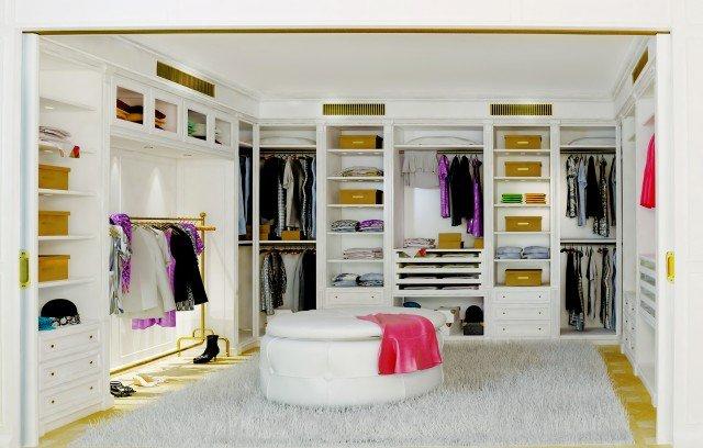 Camera classica rivisitata per uno stile senza tempo - Idee cabina armadio in cartongesso ...