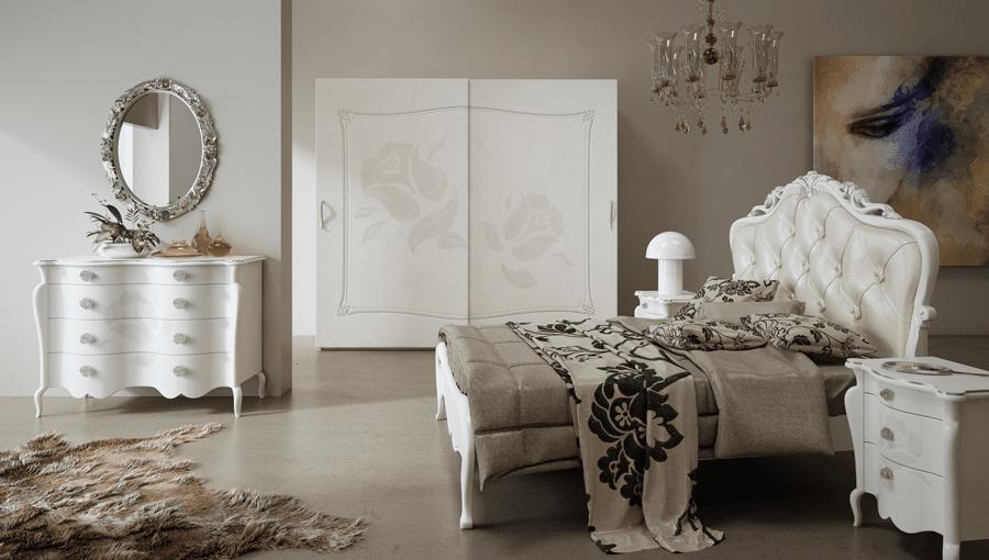 Camera classica rivisitata per uno stile senza tempo - Camere da letto stile barocco moderno ...