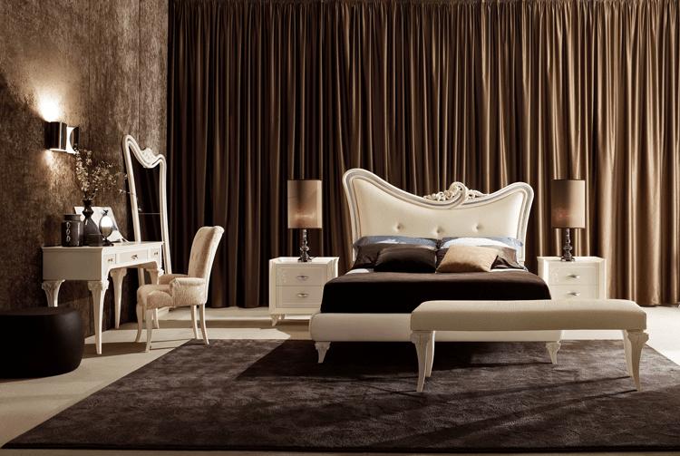 Camera classica rivisitata per uno stile senza tempo - Letto contemporaneo ...