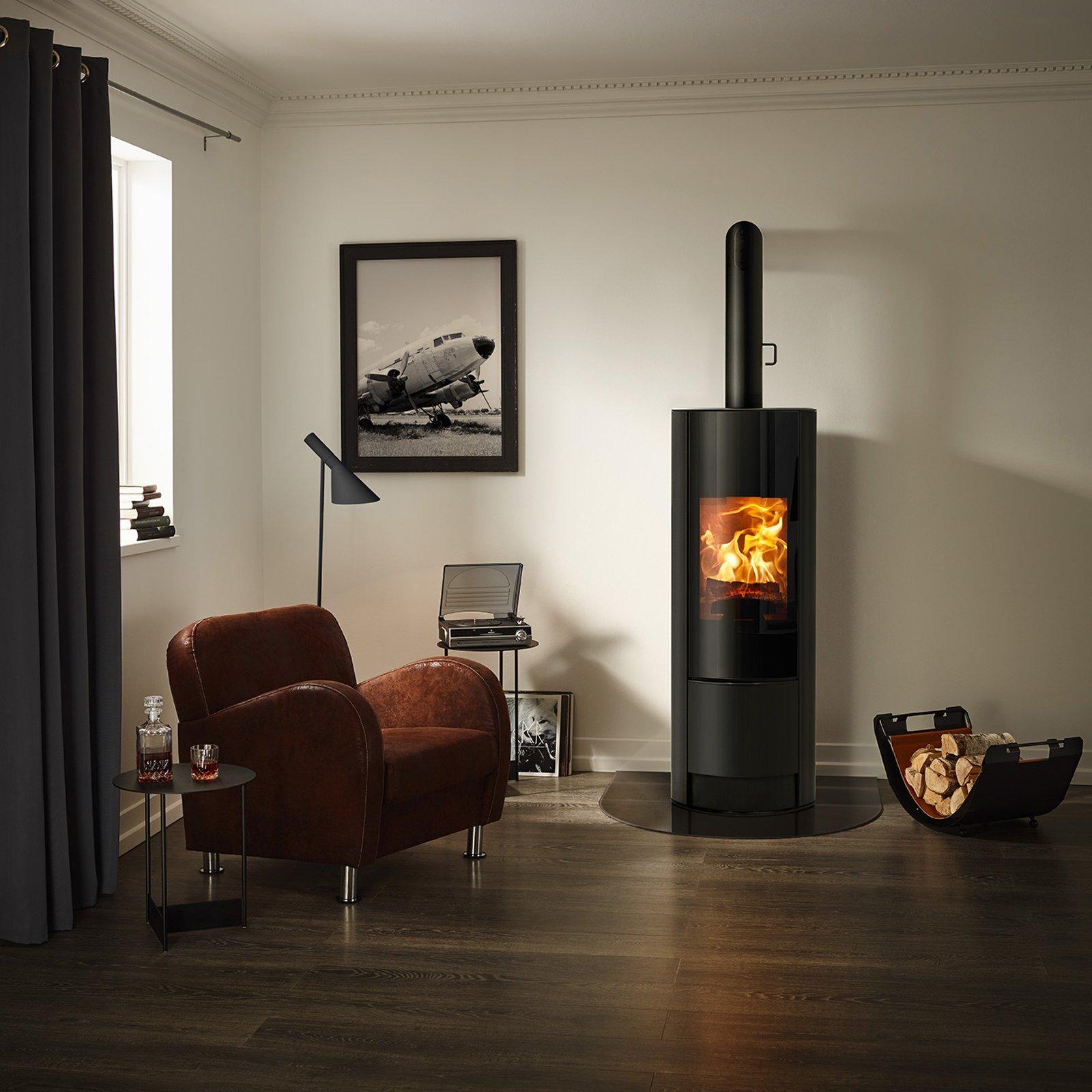 stufe a legna con dispositivo di accensione programmata. Black Bedroom Furniture Sets. Home Design Ideas