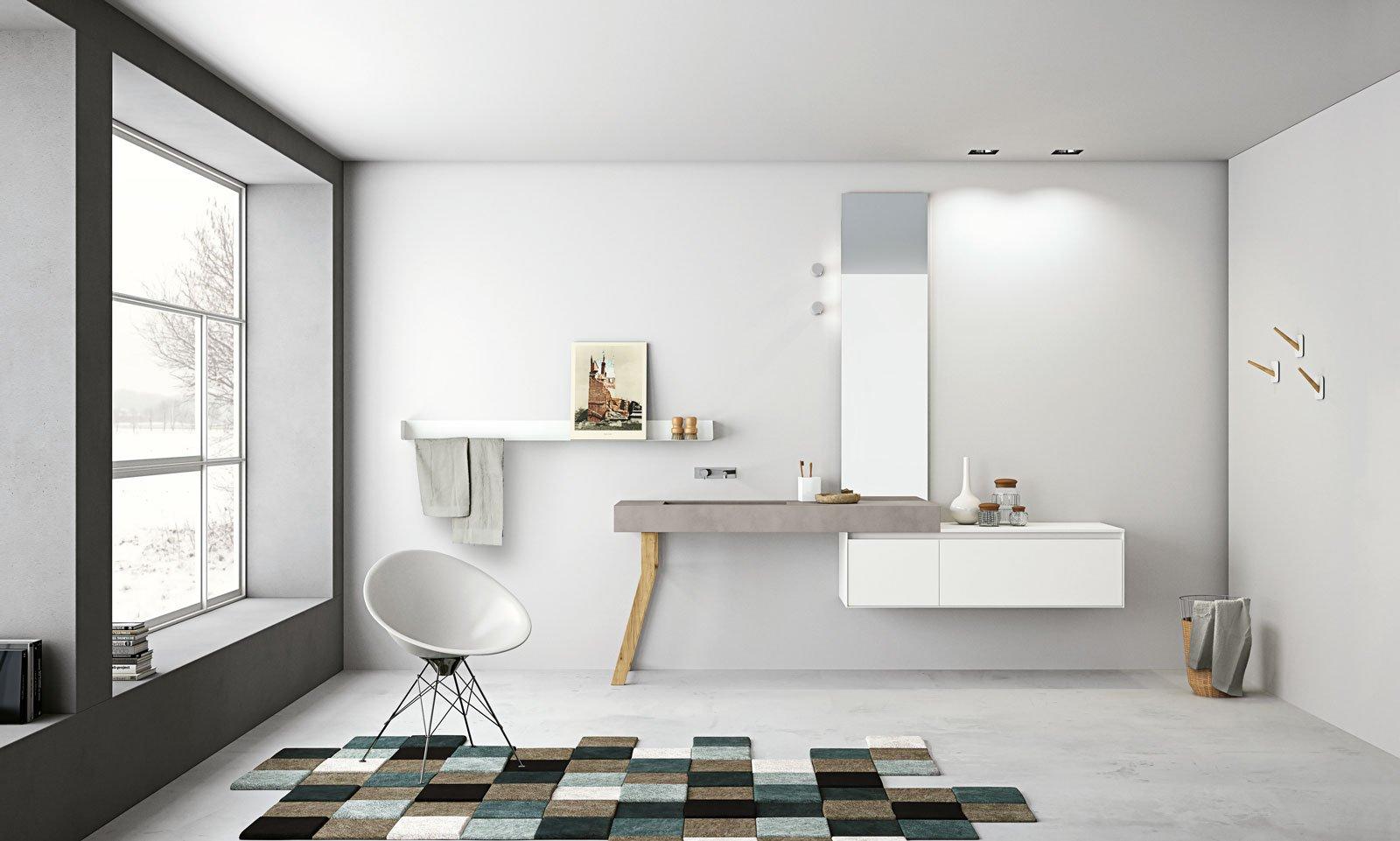 La linea Aria, di Altamarea Bath, in Micromalta. E' un progetto di Willy Dalto di Imago-Design.