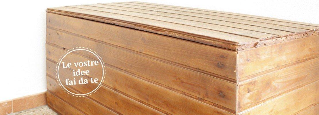 Cassapanca in legno da esterno per arredare il giardino - Cose di Casa