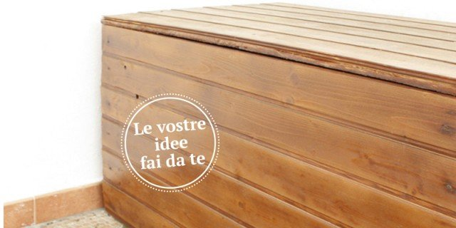 Cassapanca in legno da esterno per arredare il giardino cose di casa - Porte fai da te legno ...