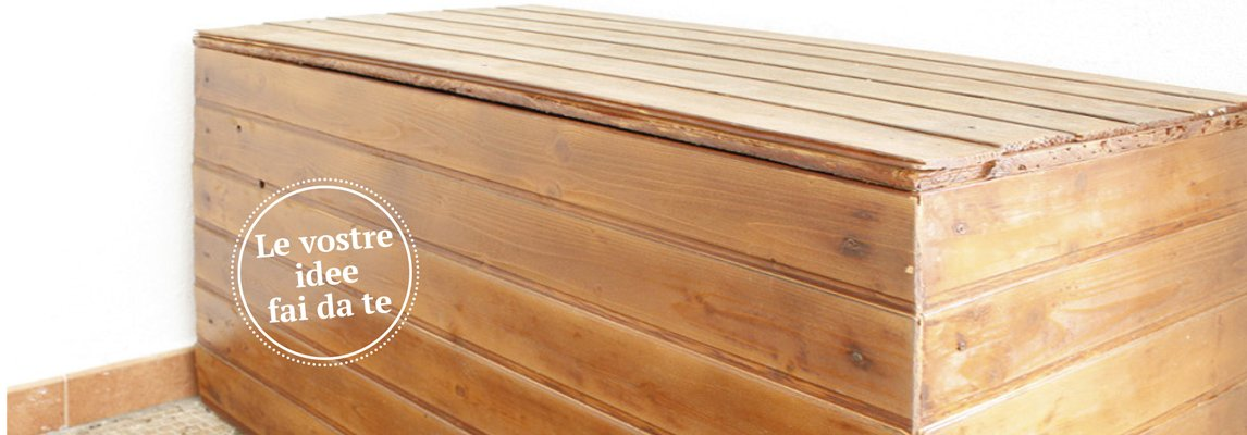 cassapanca in legno da esterno per arredare il giardino