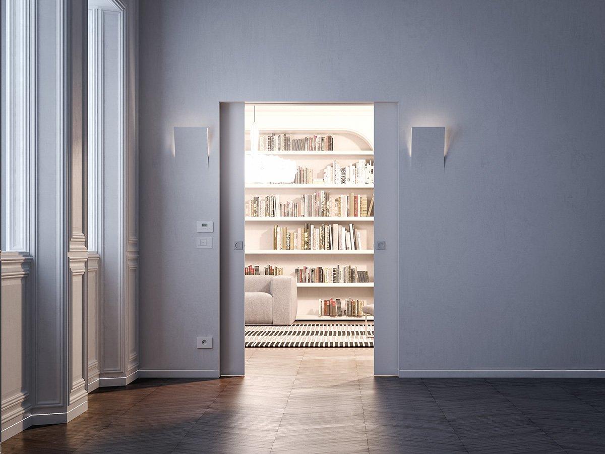 Porte a scomparsa e filo muro syntesis collection di for Cornici porte leroy merlin