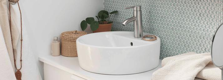 Lavabi rotondi piccoli o da usare anche accoppiati cose di casa - Rubinetti bagno ikea ...