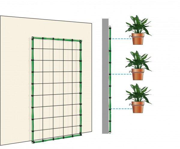 Arredare con le piante una parete verde in casa cose di for Arco per rampicanti fai da te