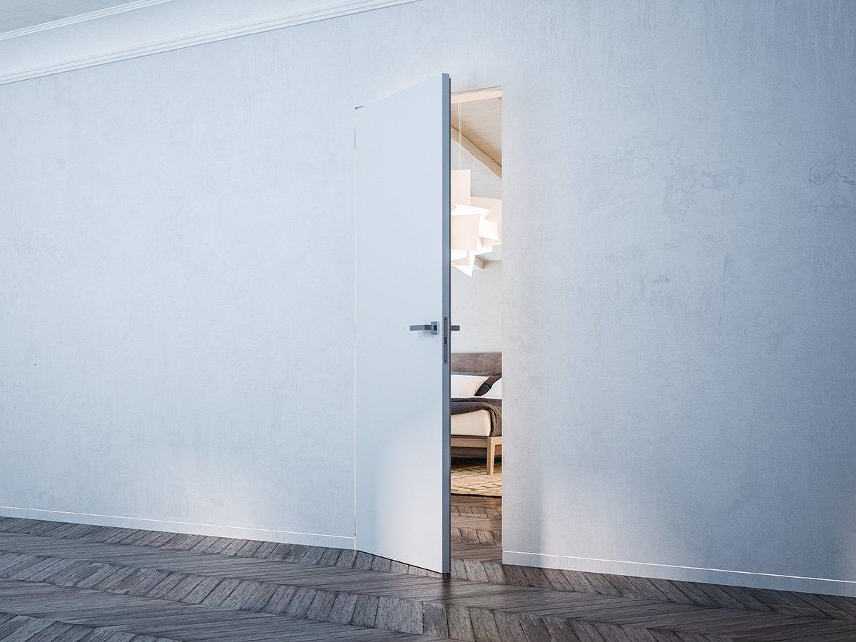 Porte a scomparsa e filo muro syntesis collection di - Porte a parete ...