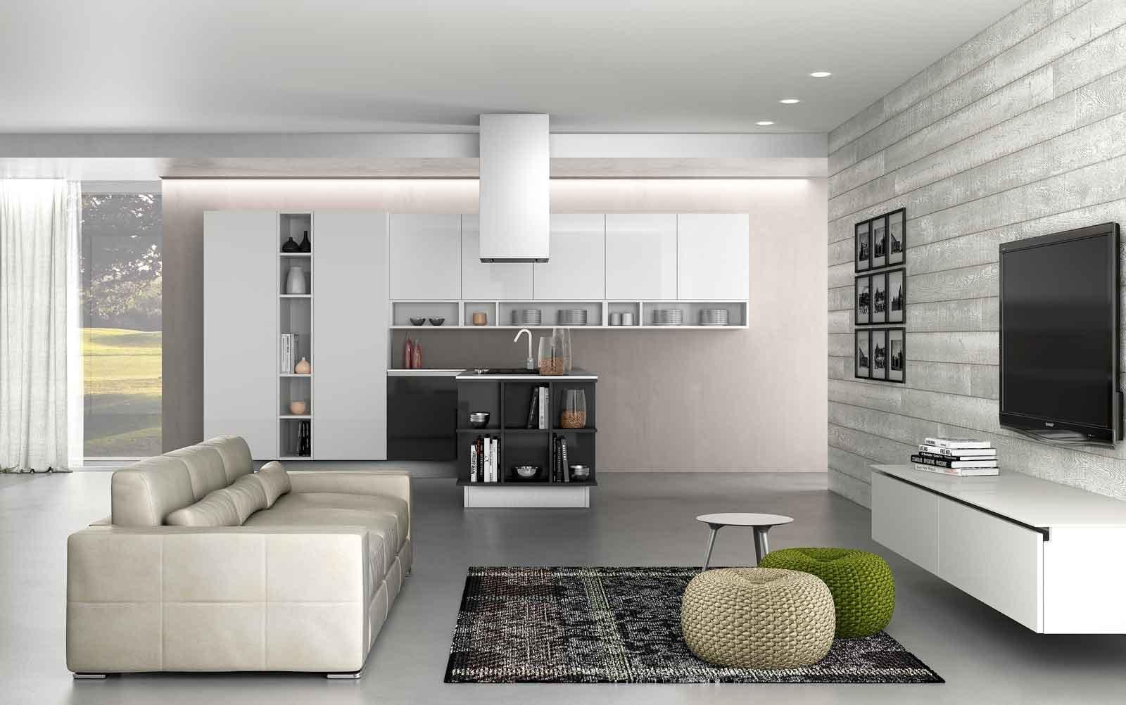 Cucina e soggiorno in un unico ambiente 3 stili cose di for Foto living moderni