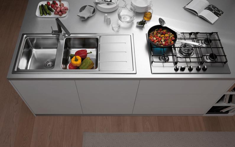 Lavelli da cucina in materiali diversi cose di casa - Top cucina acciaio inox prezzo ...