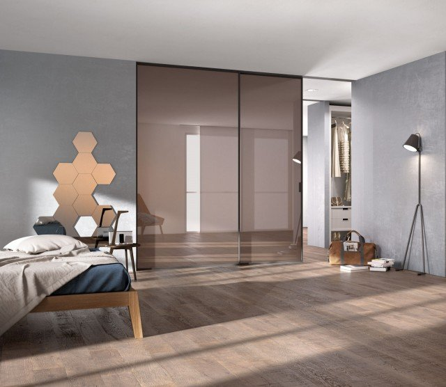 porta vetro bronzato satinato cabina armadio