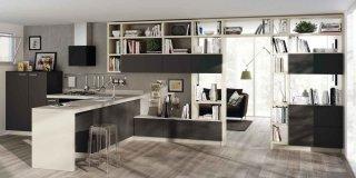 Cucina e soggiorno in un unico ambiente: 3 stili