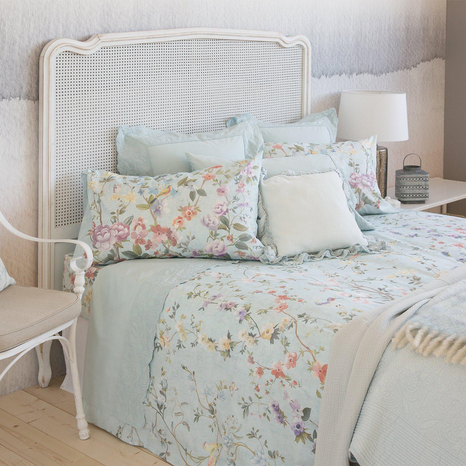Tende in misto lino per camera da letto : tende a pacchetto ...