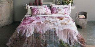 completo da letto Maxi Camelie di Fazzini in raso di cotone