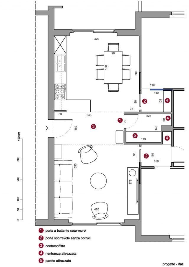 Il ripostiglio dispensa ricavato nel soggiorno cucina for Piani di casa con dispensa maggiordomi