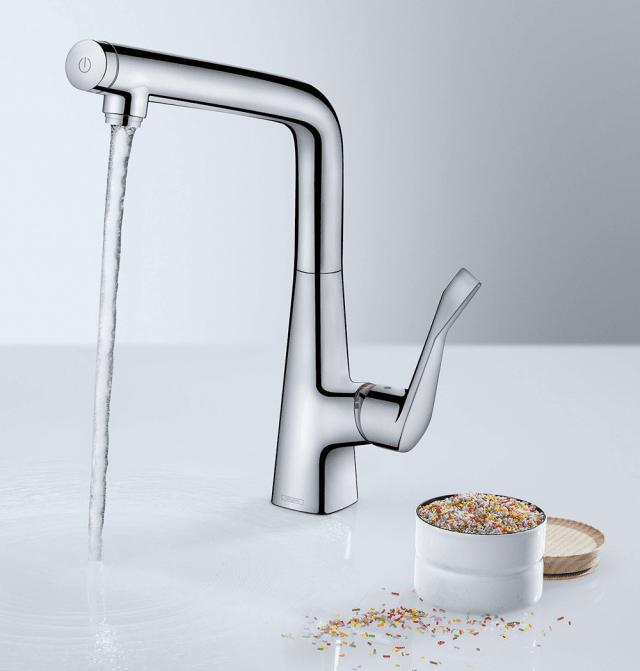 5hansgrohe-metris-con-tasto-select-rubinetto-cucina