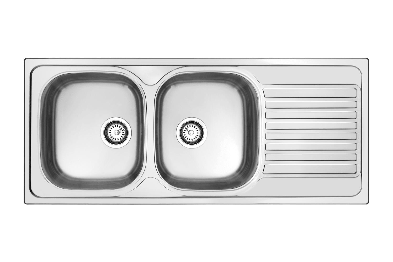 Lavelli da cucina in materiali diversi cose di casa - Lavandino doppia vasca cucina ...