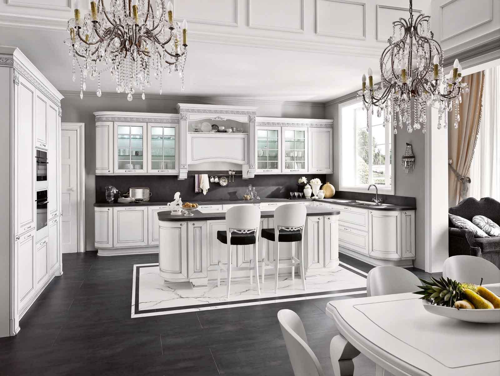 Cucina e soggiorno in un unico ambiente 3 stili cose di - Cucina bianca e noce ...