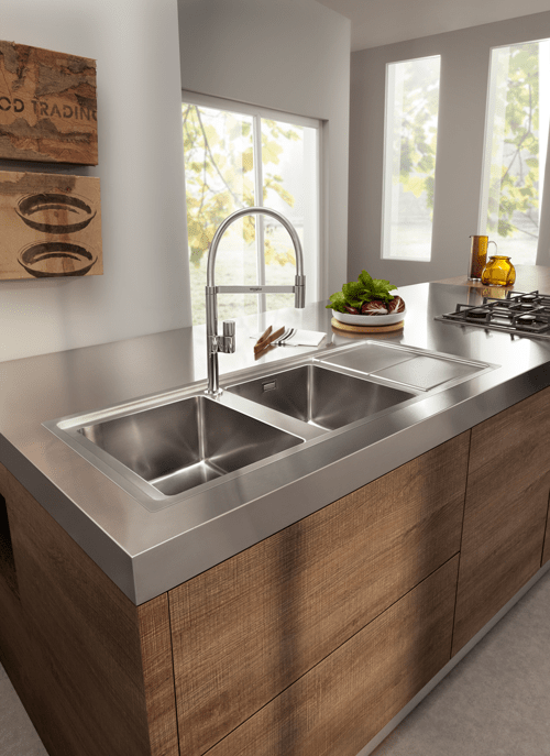 Lavelli da cucina in materiali diversi mobili giardina biancavilla catania - Top cucina acciaio inox prezzo ...