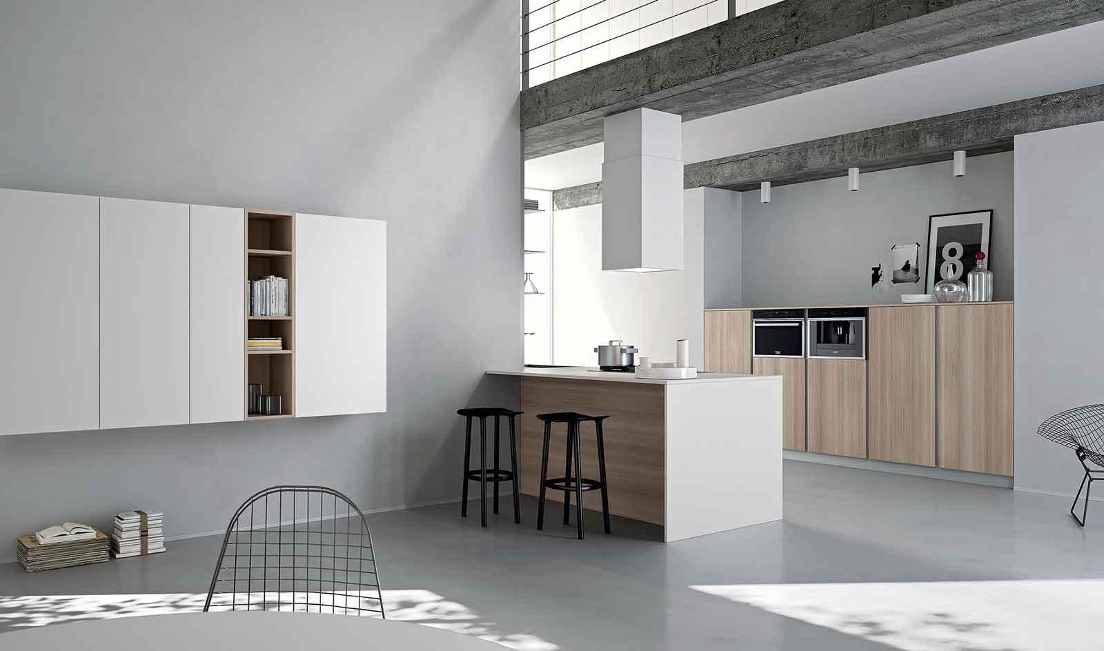 Cucina salotto ambiente unico idee idee per il design for Arredare ambiente unico cucina soggiorno