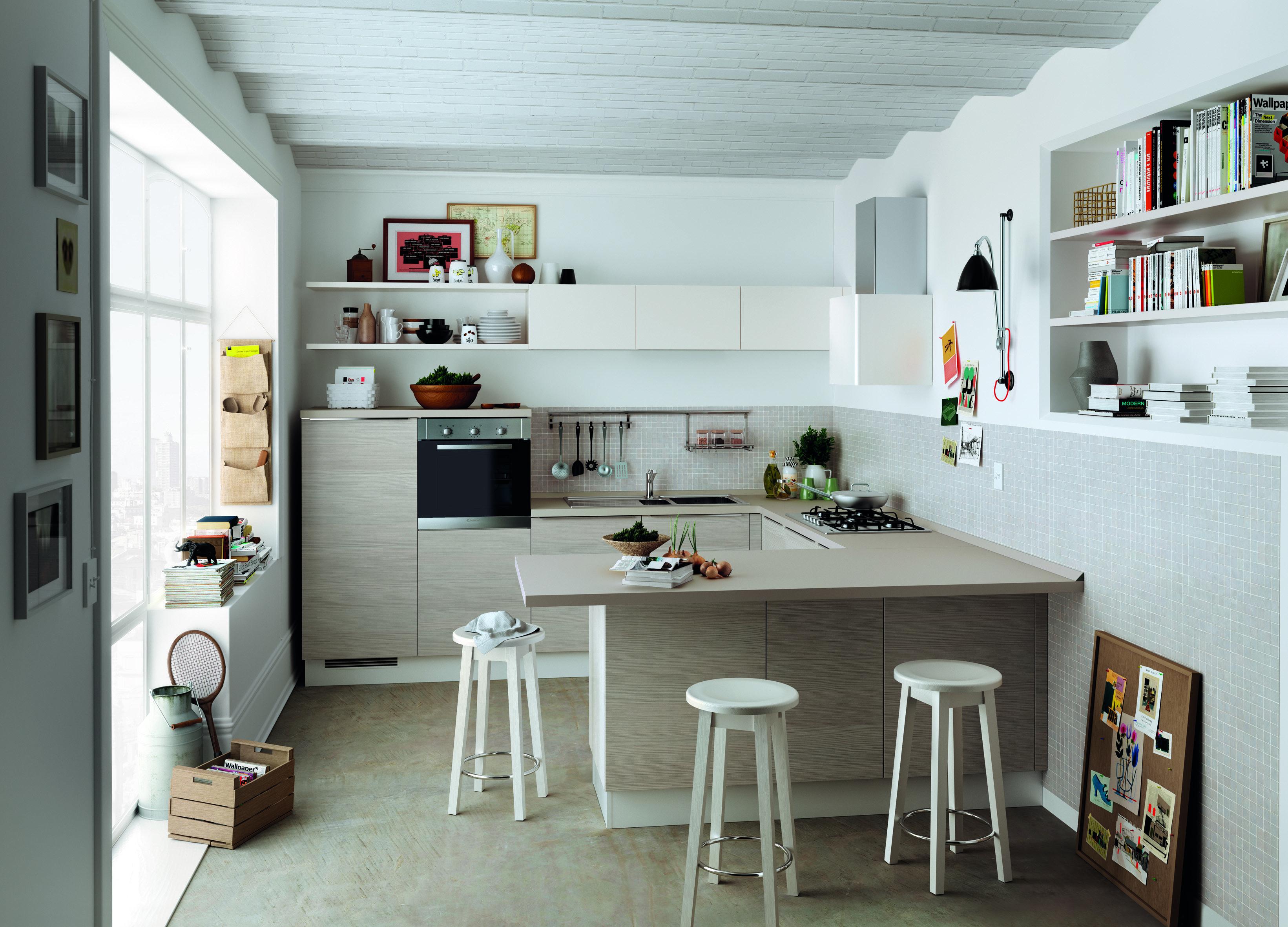 cucine piccole: composizioni compatte anche per il soggiorno ... - Cucine Compatte Design