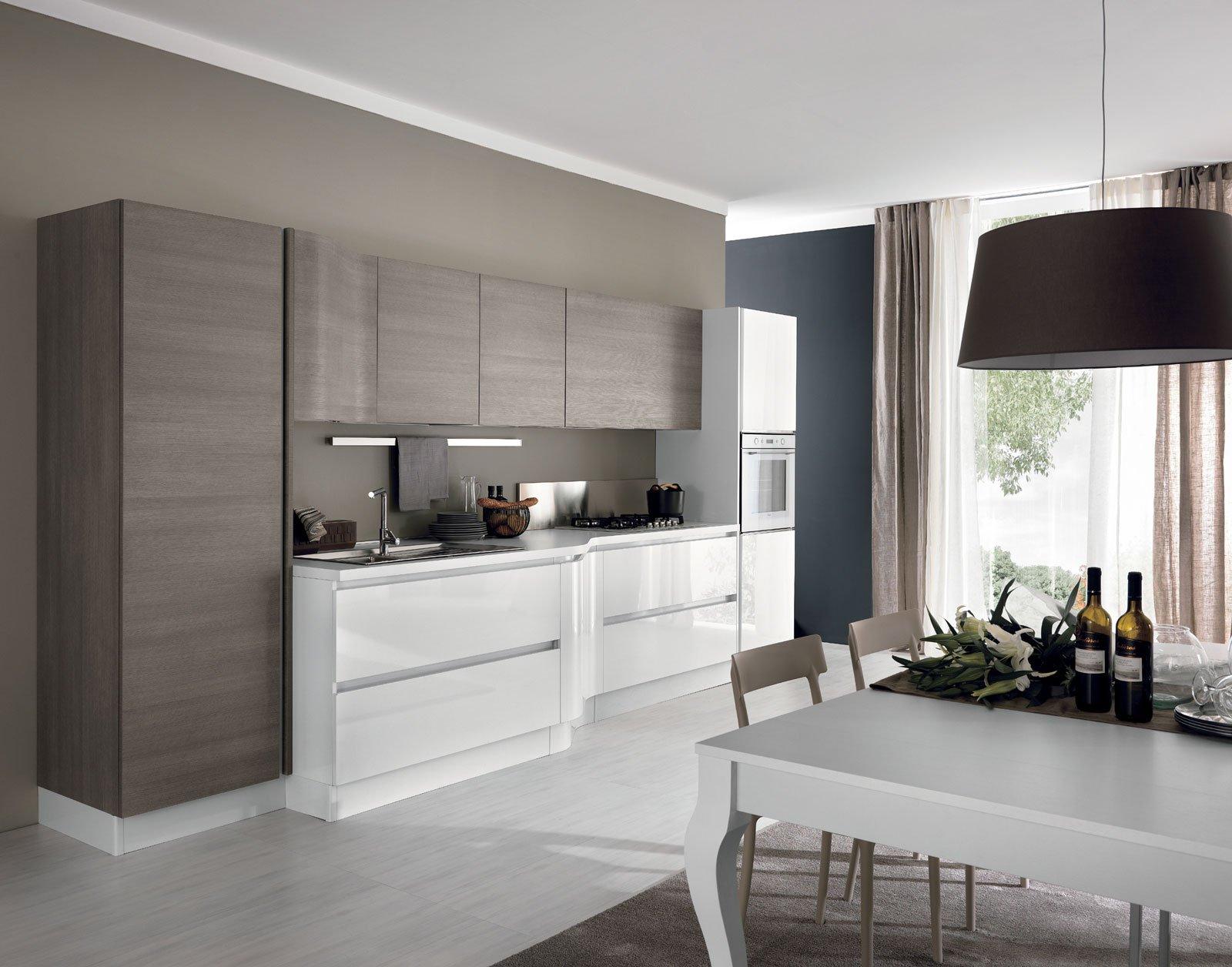 Cucine piccole composizioni compatte anche per il soggiorno cose di casa - Cucine sospese da terra ...
