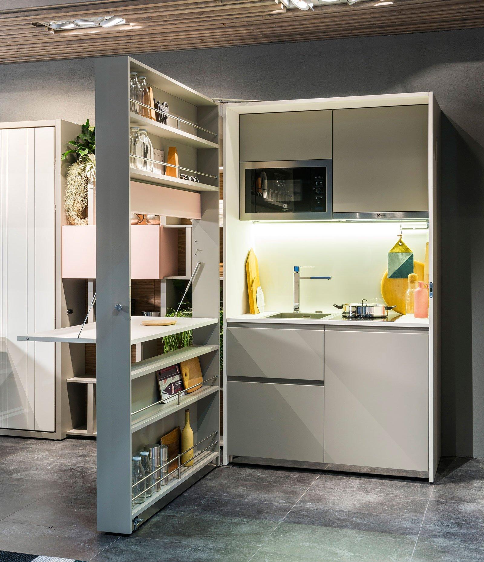 Cucine piccole: composizioni compatte anche per il soggiorno - Cose di Casa