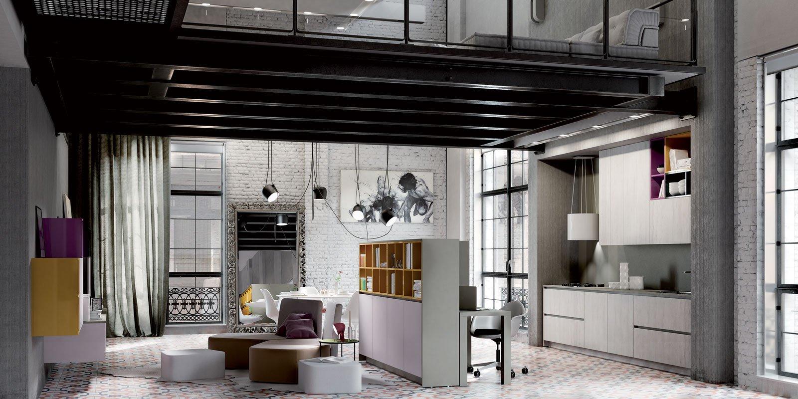 Cucine piccole composizioni compatte anche per il - Cucine con soggiorno ...