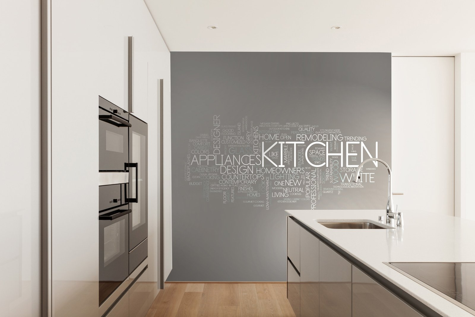 Stickers decorazione ma non solo cose di casa for Carta parati cucina moderna