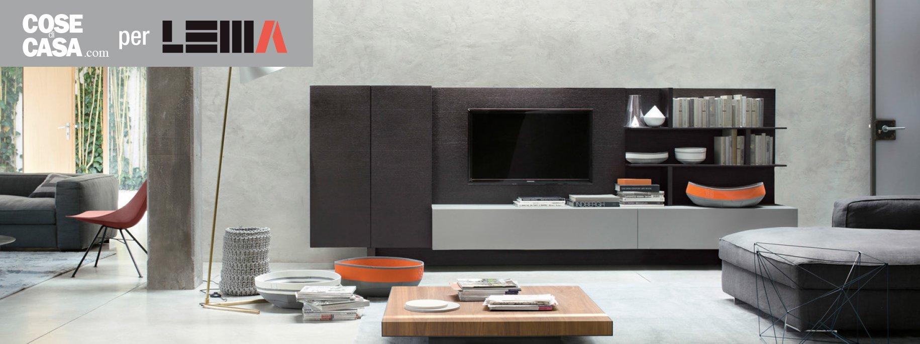 Arredare il soggiorno quale spazio per la tv cose di casa for Mobili lema soggiorno