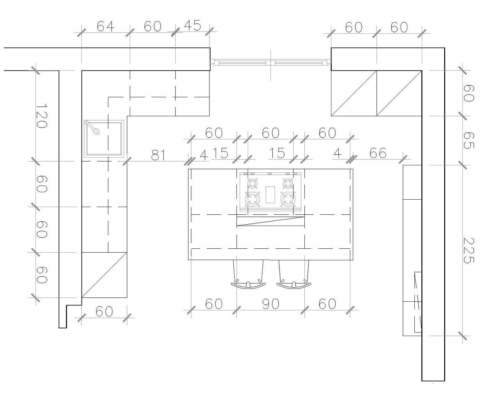 Cucina a vista sul soggiorno un progetto per sfruttare for Creatore della pianta della casa
